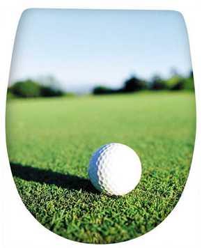deska klozetowa z motywem golfowym